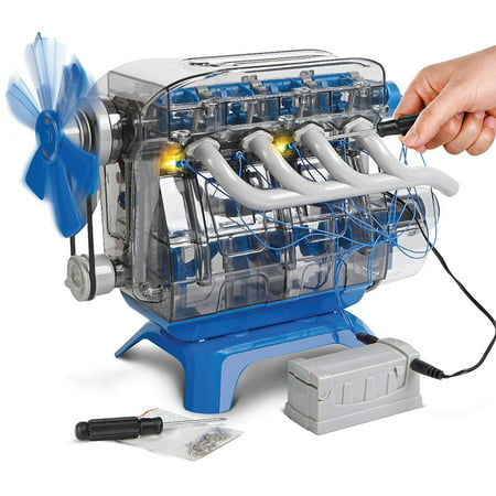 DISCOVERY KIDS DIY Toy Model Engine Kit, STEM Mechanic Four Cycle Internal Combustion Assembly Construction, W/Valves, Cylinders, Hardware & Much More, Encourages STEM Creativity/Critical Thinking