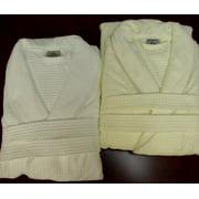 Cotton Jacquard Velour Shawl Collar Waffle Weave Bath Robes