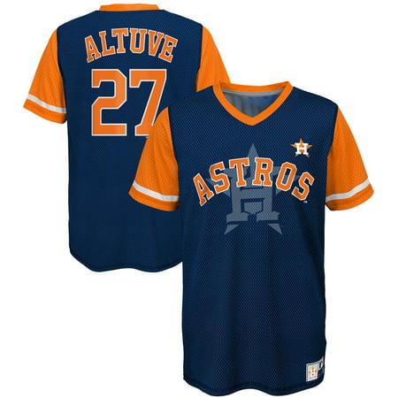 quality design bbeee 84319 Jose Altuve Houston Astros Majestic Youth Play Hard Player V-Neck Jersey  T-Shirt - Navy/Orange