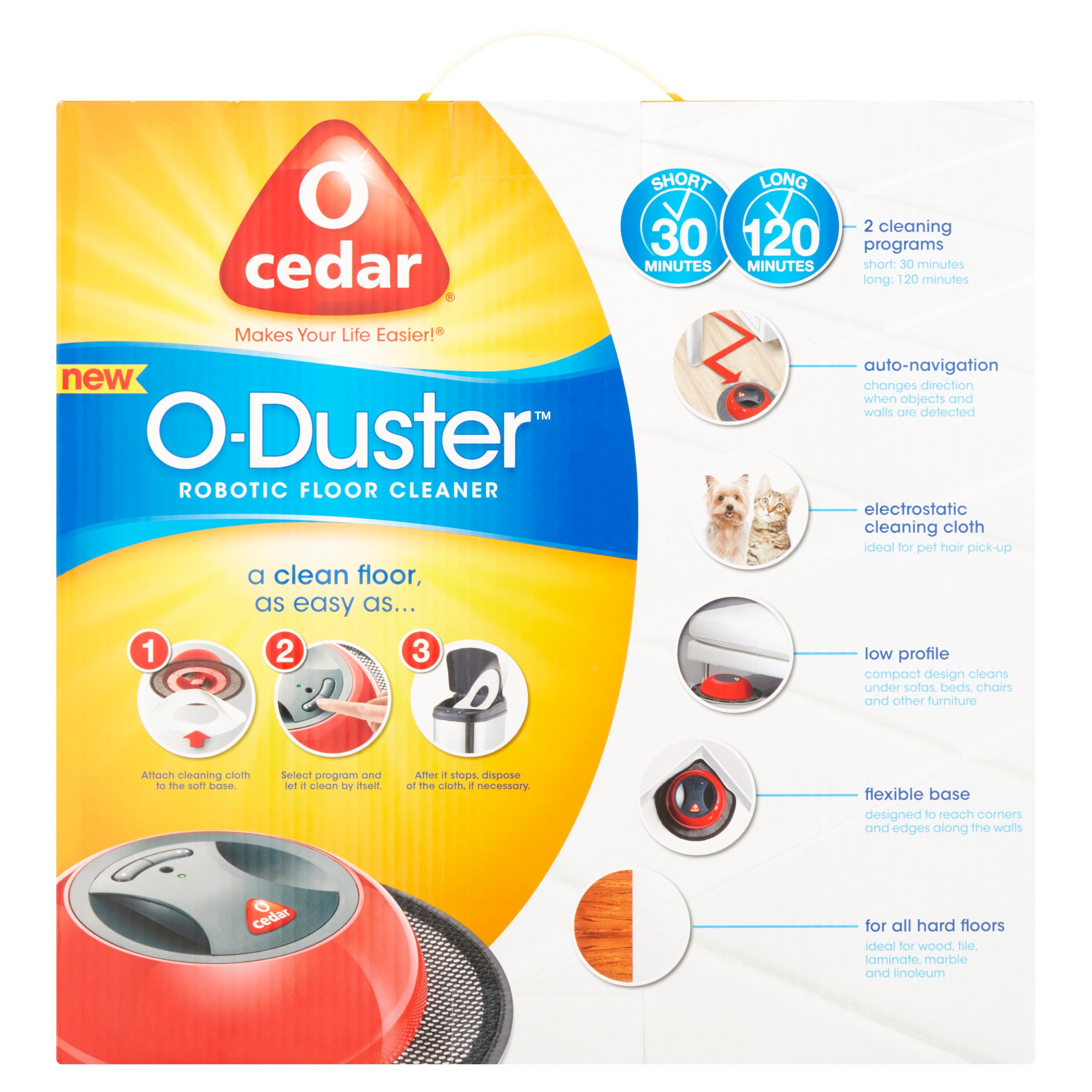 o-cedar o-duster robotic floor cleaner - walmart