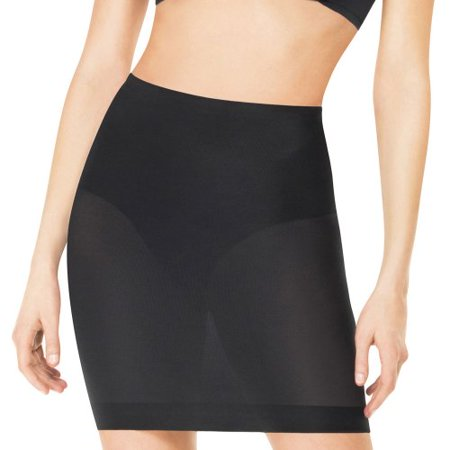 005a9eed516a1 Spanx - Assets by Sara Blakely Women s Featherweight Firmers 1 2 Slip Black  Body Shaper XL - Walmart.com