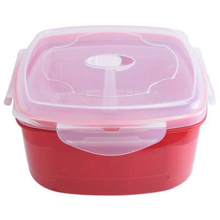 Gourmet Home Products Frigidaire Microwave Food Storage Container with Steamer Insert Home Gourmet Food