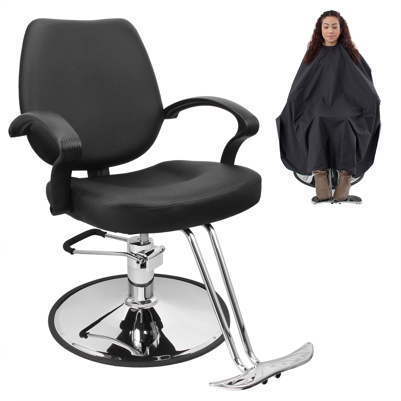Bellavie Classic Hydraulic Barber Chair Salon Beauty Spa ...