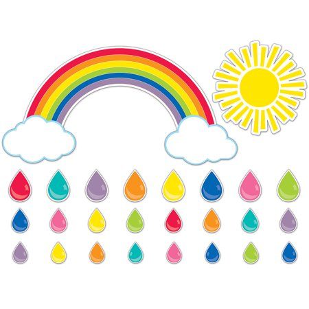 Carson Dellosa CD-110417 Hello Sunshine Giant Rainbow Bulletin Board Set - Sun Bulletin
