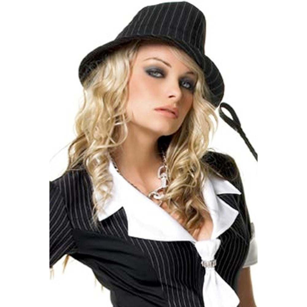 Pinstriped Fedora Gangster Hat