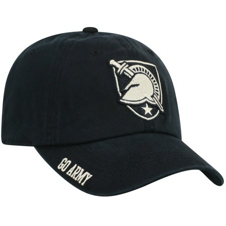 Men's Top of the World Black Army Black Knights Team Color Washed Adjustable Hat - No Size - Top Hats For Crafts