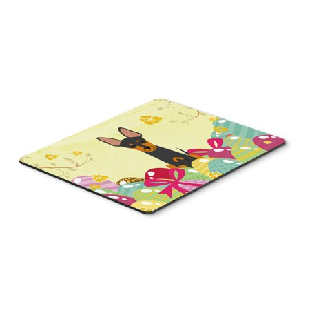 Easter Eggs English Toy Terrier Mouse Pad, Hot Pad or Trivet BB6109