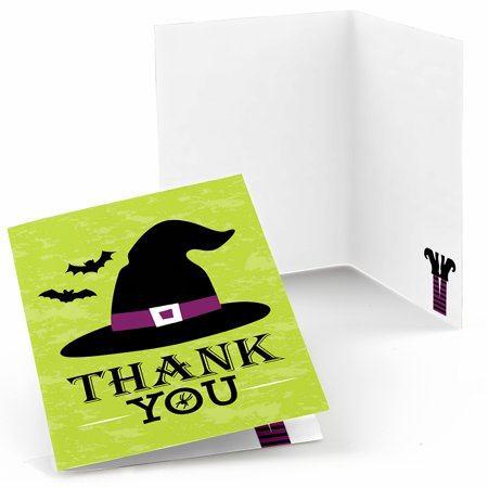 Happy Halloween - Witch Party Thank You Cards (8 Count) (Happy Halloween And Happy Birthday)