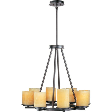 Chandeliers 8 Light Bulb Fixture With Rustic Ebony Finish Steel Material Medium Bulbs 29 inch 800