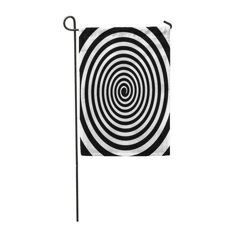 SIDONKU Circle Black and White Hypnotic Spiral Vortex Psychedelic Experience Garden Flag Decorative Flag House Banner 28x40 inch