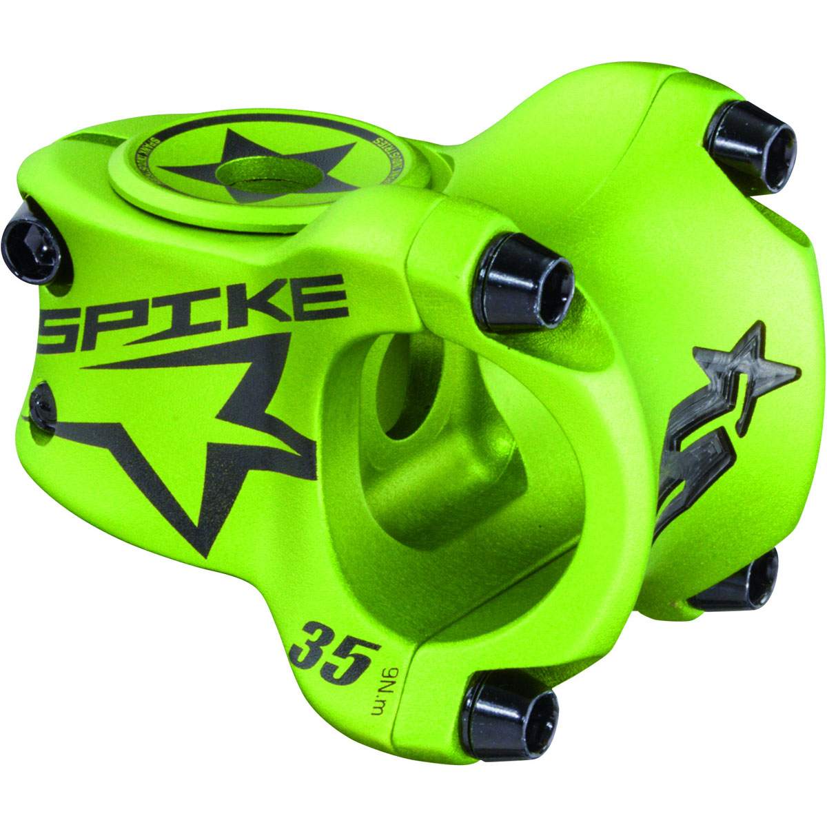 Spank SPIKE Race Bead-Blast Finish Bicycle Stem - 35mm - E06SK011