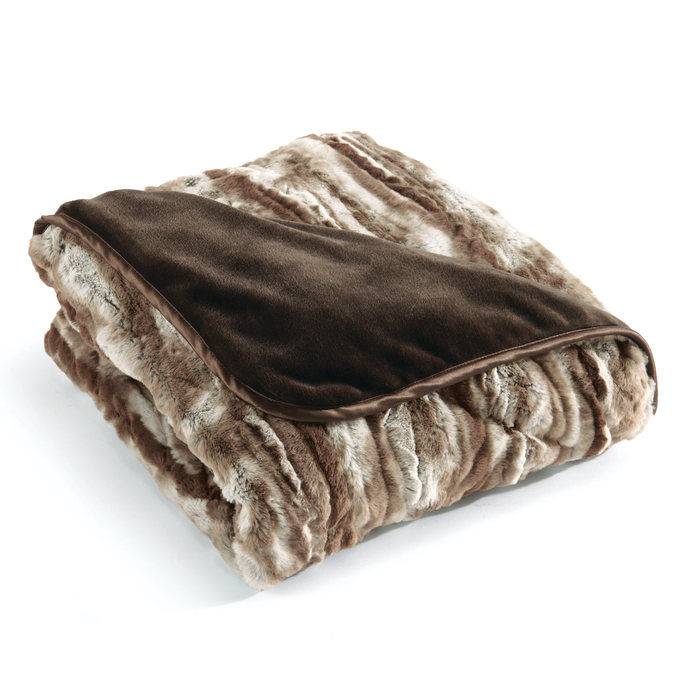 Brookstone Nap Faux Rabbit Luxury Blanket