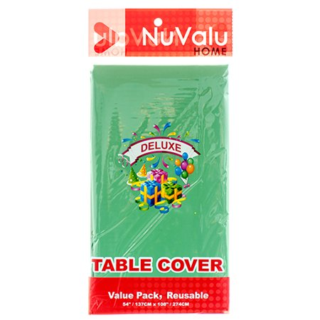 New 315069  Nuvalu Table Cover Green Deluxe Peva 0.09Mm / 54 X 108 (24-Pack) Party Set Cheap Wholesale Discount Bulk Party Supplies Party Set Fashion Accessories - Cheap Leis In Bulk