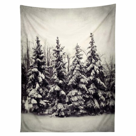 Deny Designs Chelsea Victoria Snow And Pines Wall Tapestry