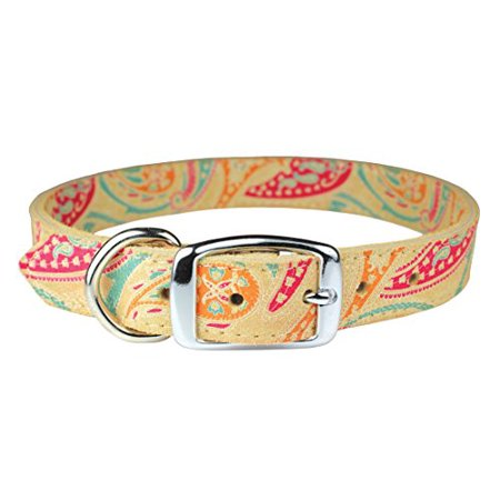 OmniPet Paisley Pattern Leather Dog Collar, 10
