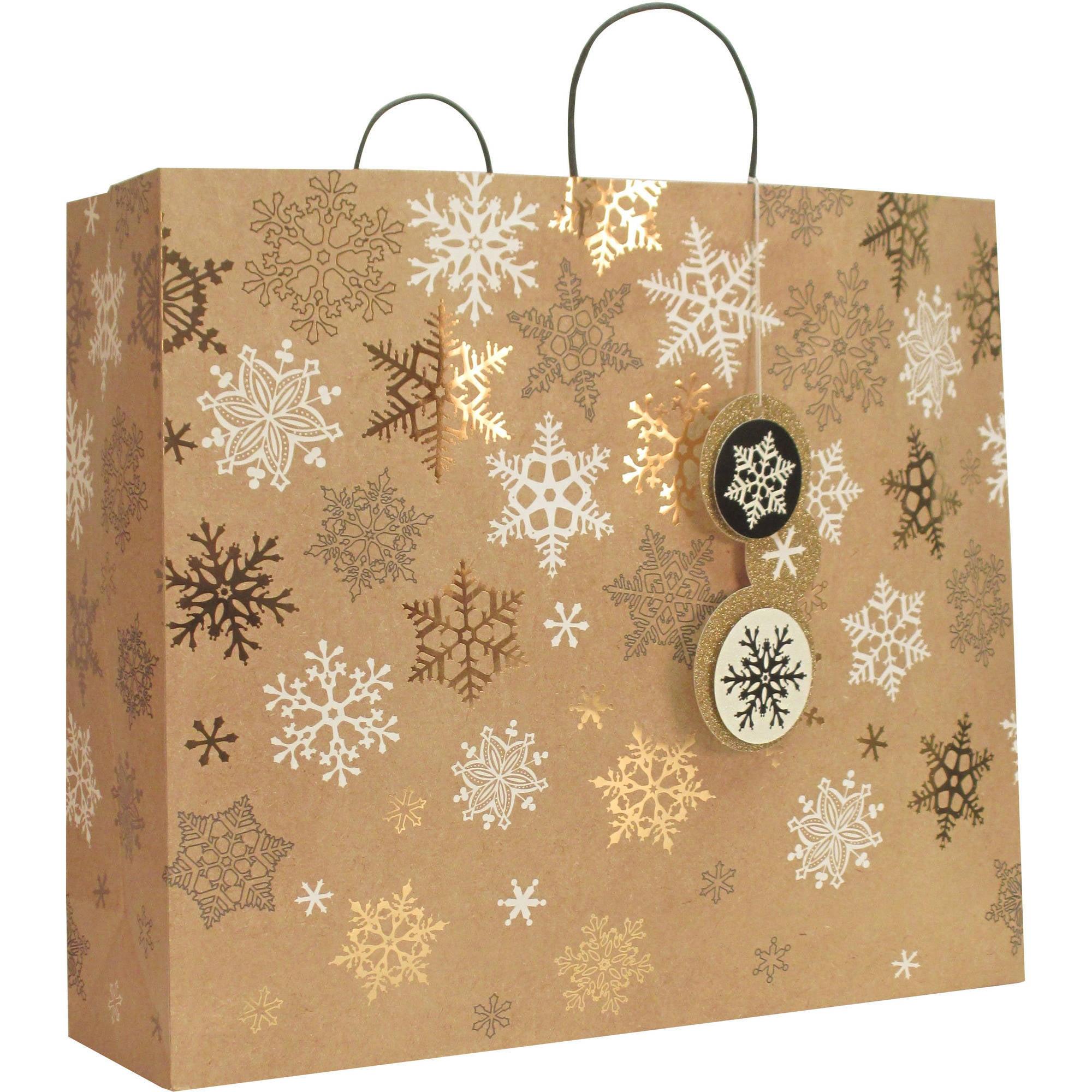 Kraft Snowflake Gift Bag