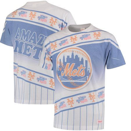 huge discount c4695 c0a5e New York Mets Mitchell & Ness Wild Pitch T-Shirt - Royal/White