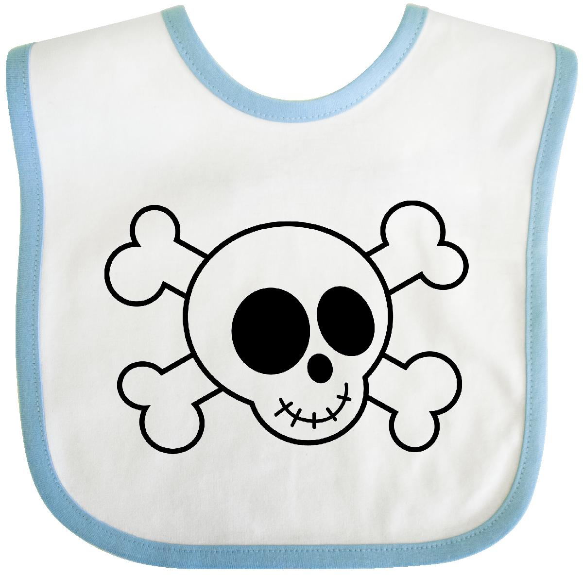 Inktastic Fun Skull And Crossbones Baby Bib pirate funny kids gift clothing infant hws