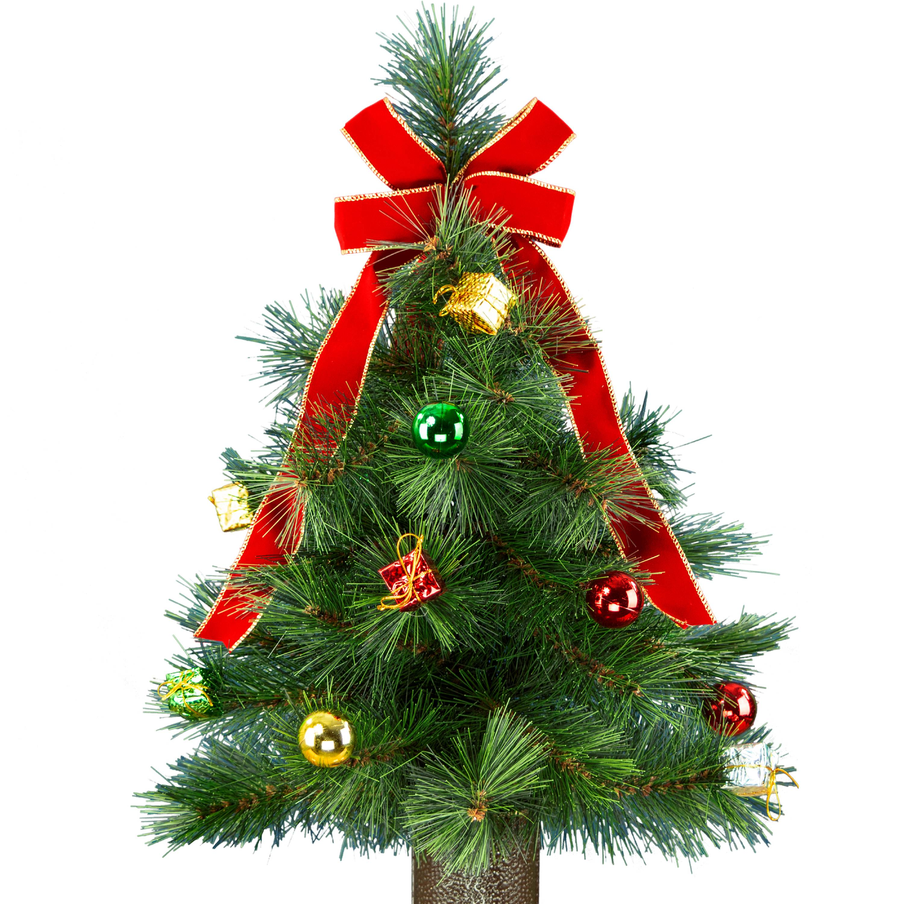 Artificial Christmas Tree w/ Stay-In-The-Vase® Design. Perfect for Home, Memorials, & Grave ...