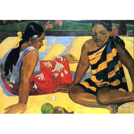 Framed Art for Your Wall Gauguin, Paul - Two women of Tahiti 10 x 13 Frame
