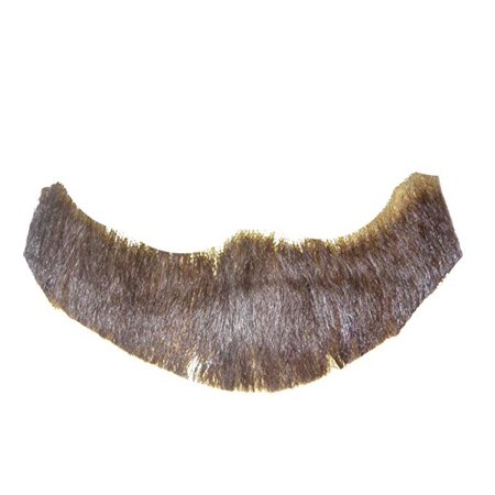 Brown Full Character Beard Human Hair Costume Halloween Accessory - Long Hair And Beard Halloween Costume Ideas