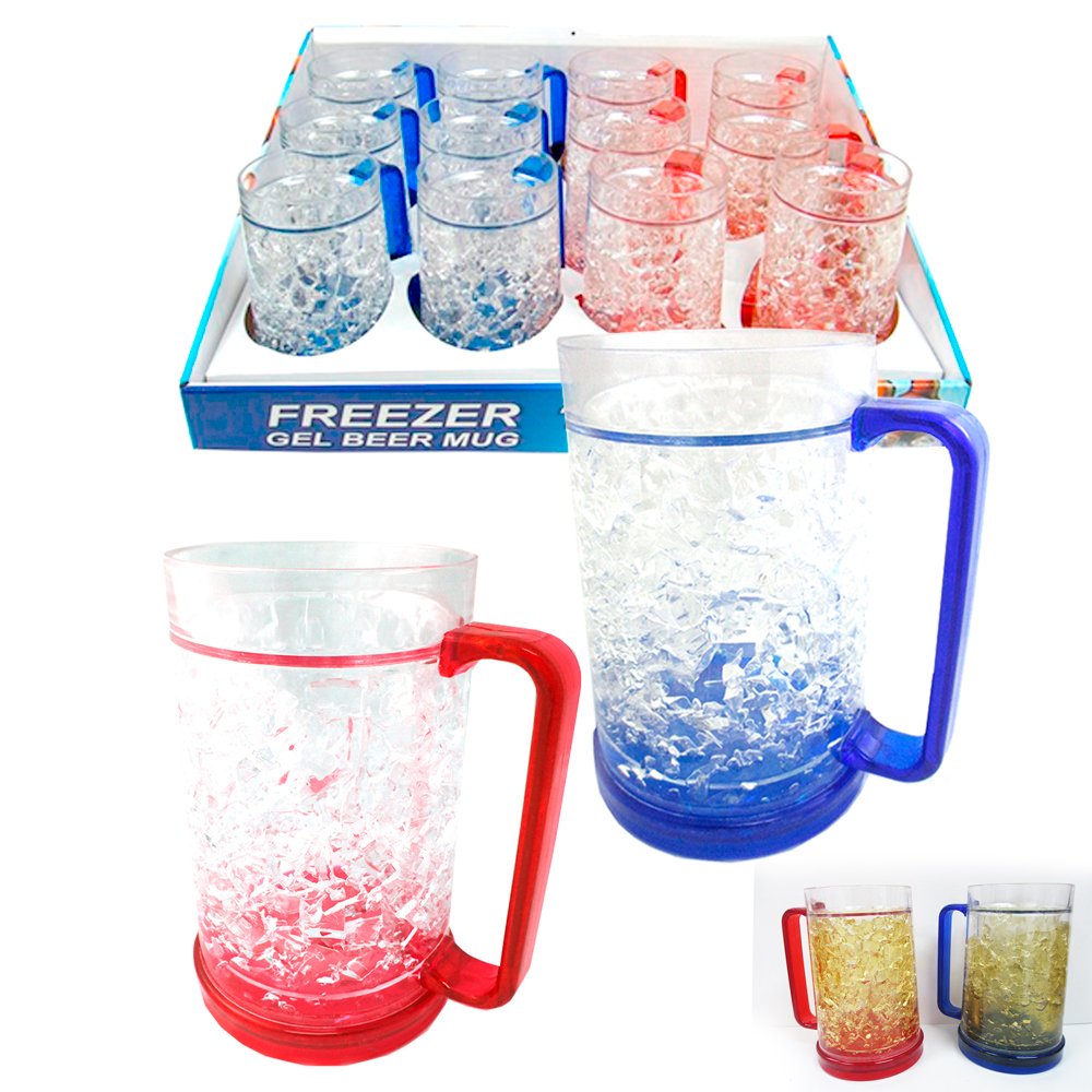 Double Wall Gel Freezer Mug 16 Oz Acrylic Tumbler Beverage