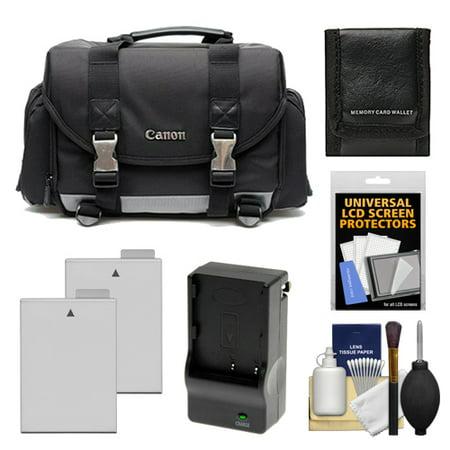 Canon 200DG Digital SLR Camera Case - Gadget Bag with 2 LP-E8 Batteries & Charger + Accessory Kit for Rebel T2i, T3i, T4i,