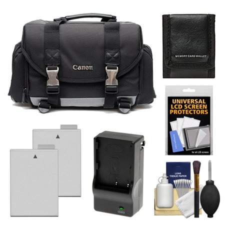 Canon 200DG Digital SLR Camera Case - Gadget Bag with 2 LP-E8 Batteries & Charger + Accessory Kit for Rebel T2i, T3i, T4i, T5i