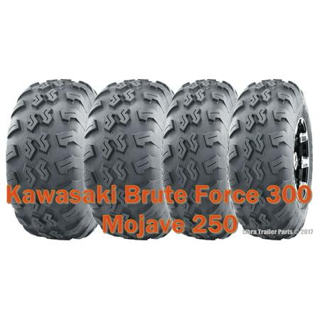Set 4 WANDA ATV UTV Tires 22x7-10 & 22x10-10 Kawasaki Brute Force 300 Mojave 250