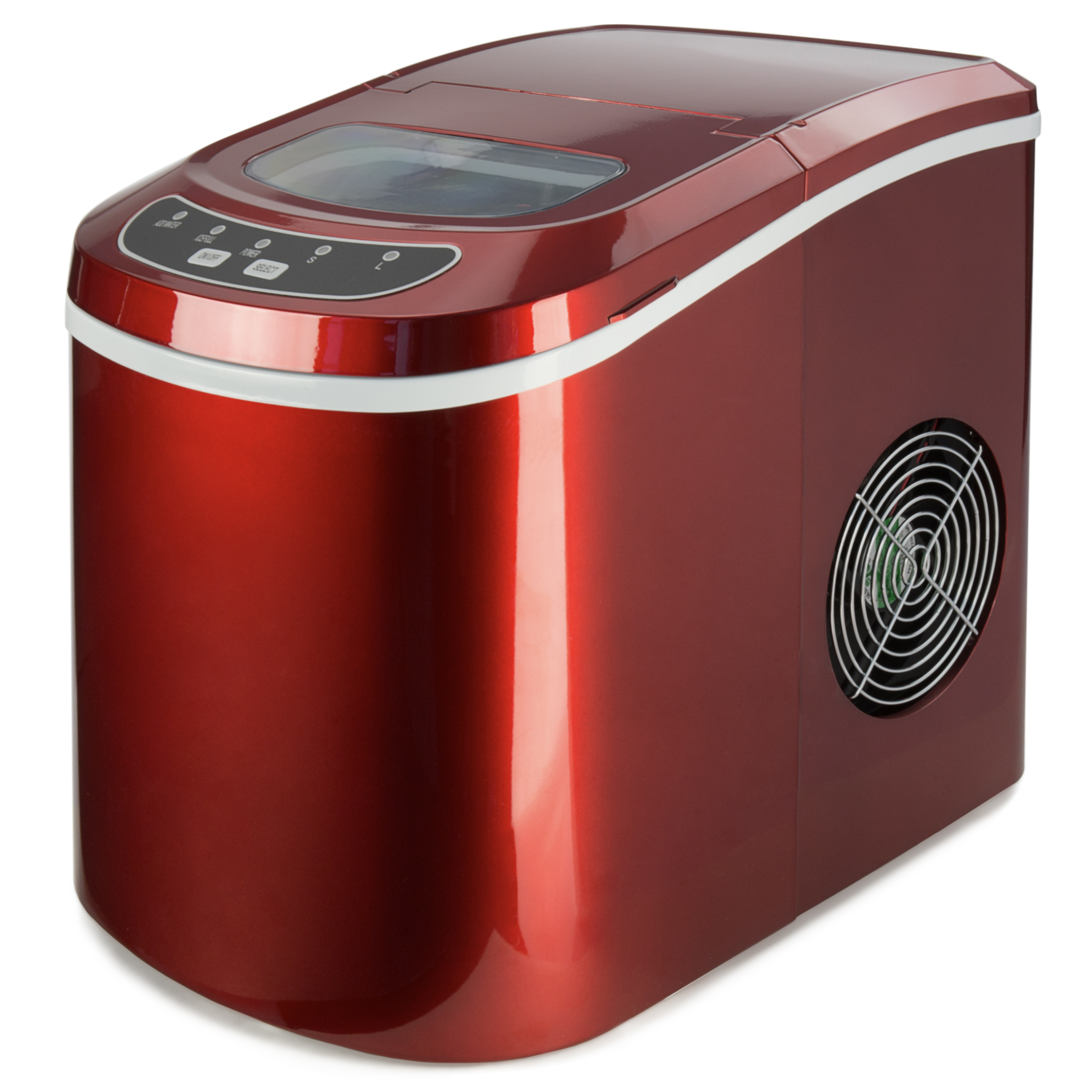 Best Choice Products Compact Digital Ice Maker w/ 2 Cube Sizes (Red, 26 Lbs. of Ice Daily)