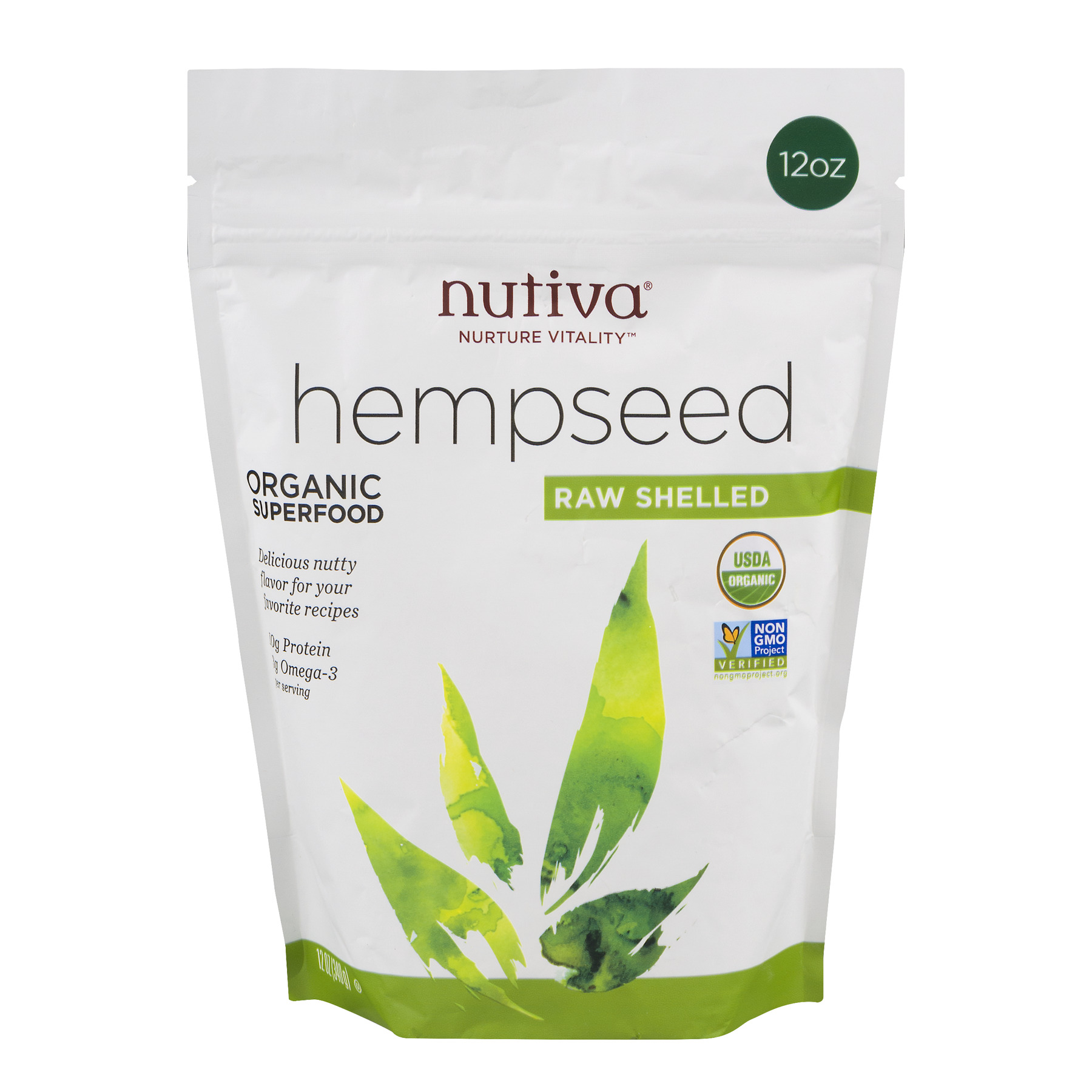 Nutiva Organic Raw Shelled Hemp Seeds, 12.0 Oz, 2 Ct