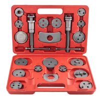 Ktaxon 21pcs Heavy Duty Disc Brake Piston Caliper Compressor Tool Set, Auto Wind Back Kit, for Brake Pad Replacement