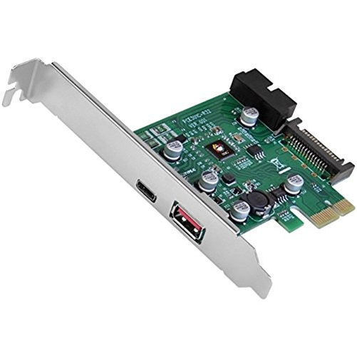 USB 3.1 GEN 1 3PORT PCIE WITH CHARGING PORT TYPE-C READY