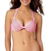 Collections By Women's Marina Stripe Push Up Bikini Swimsuit Top