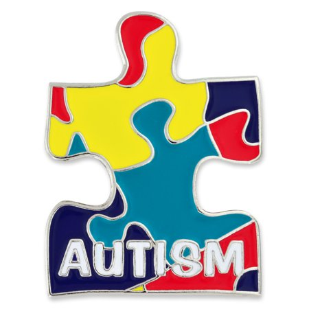 PinMart's Autism Awareness Puzzle Piece Enamel Lapel Pin with a Magnetic -