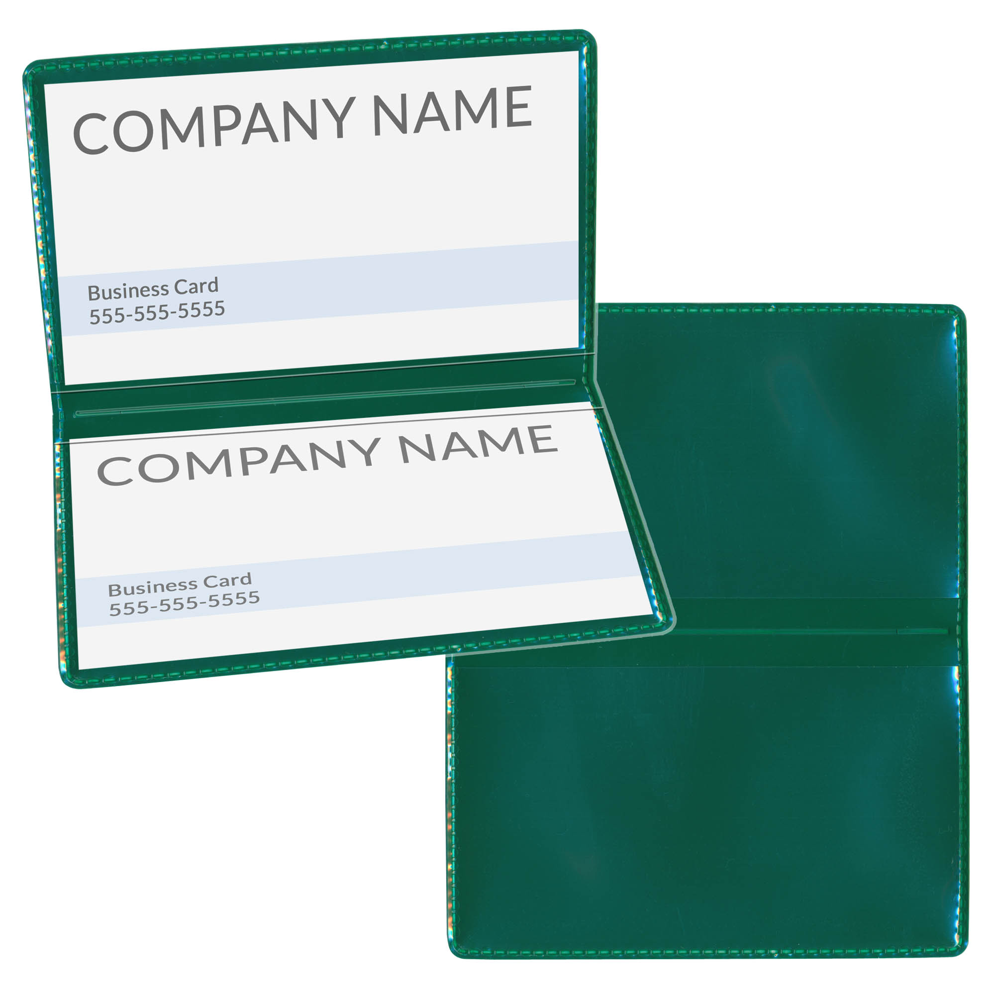 StoreSMART Black Folding Business Card Holders - 10 pack - Polypropylene Plastic (RPP2915-BK-10)