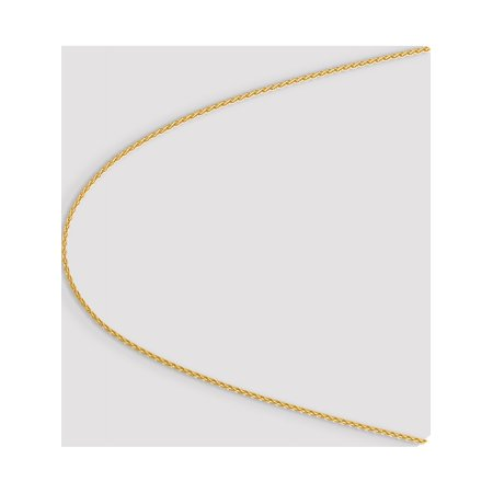14k Yellow Gold 1.9mm Parisian Wheat Chain - image 2 of 5