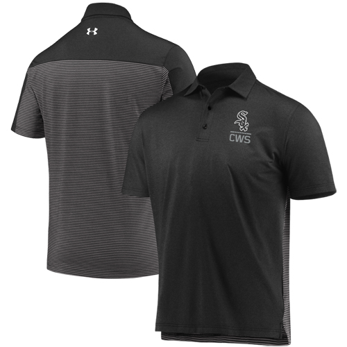Chicago White Sox Under Armour Novelty Performance Polo - Black/Gray