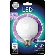 GE 4.5 watt (25 watt Equivalent) Med Base G25 Soft White Globe LED, 1-Pack