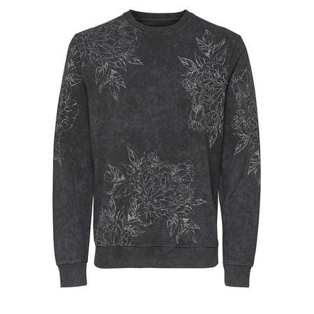 Floral-Print Cotton Sweater