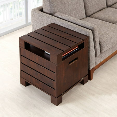 Furniture of America Plank-Inspired Nightstand, Walnut ()