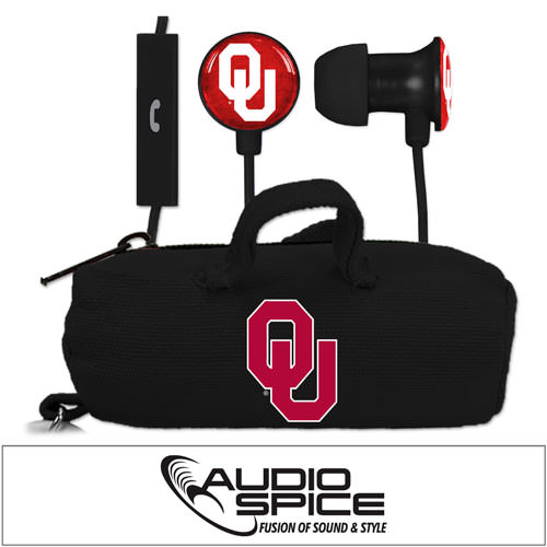 Oklahoma Sooners Scorch Earbuds + Mic with BudBag