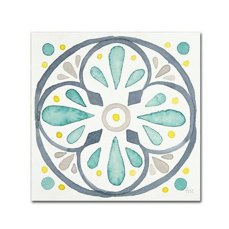 Trademark Fine Art 'Garden Getaway Tile VI White' Canvas Art by Laura Marshall for $<!---->