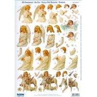 3D Precut Victorian Angels