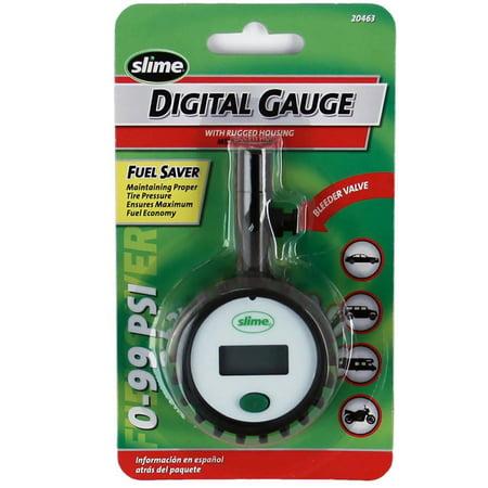 Metal Tire Gauge - Slime Digital Gauge with Rugged Housing (0-99 psi) - 20463