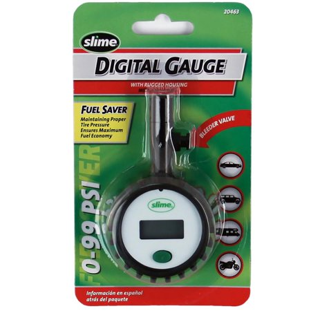 Slime Digital Gauge with Rugged Housing (0-99 psi) -