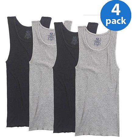 d94f471a9ce4ad Fruit of the Loom - Big Men s 4-Pack Assorted A-Shirts - Walmart.com