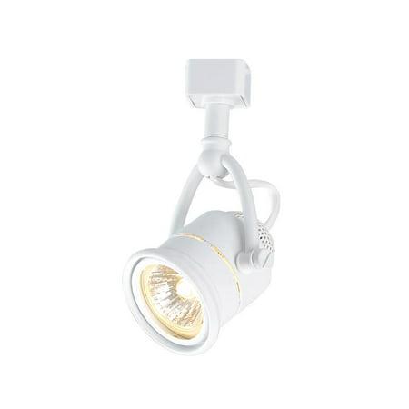 Hampton Bay Retro 1-Light White Linear Track Lighting Head Flexible Track Lighting Head