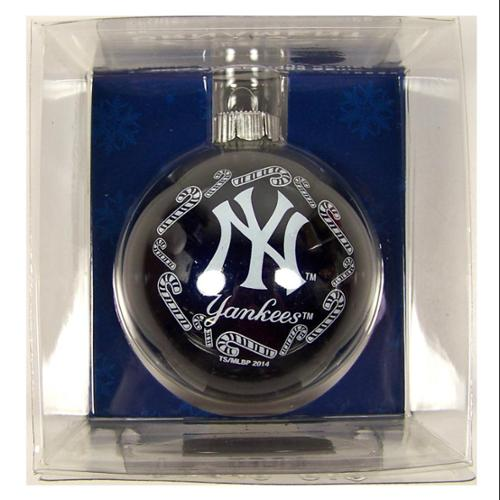 New York Yankees Official MLB 3 inch  Glass Ball Christmas Ornament by Topperscot