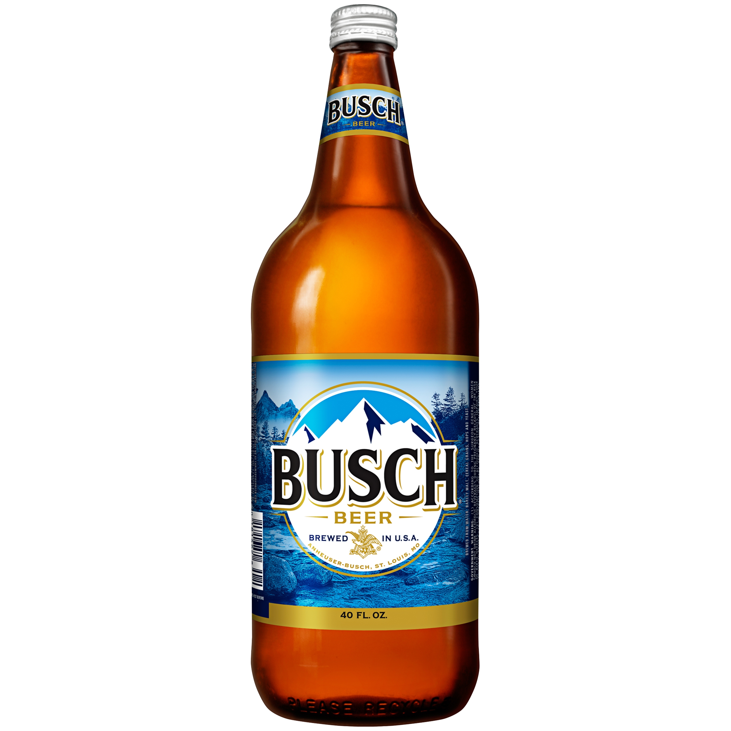Busch Beer, 40 fl. oz. Bottle
